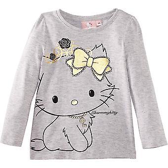 Sanrio guld Hello Kitty - Charmmy flickor Långärmad TopT-tröja