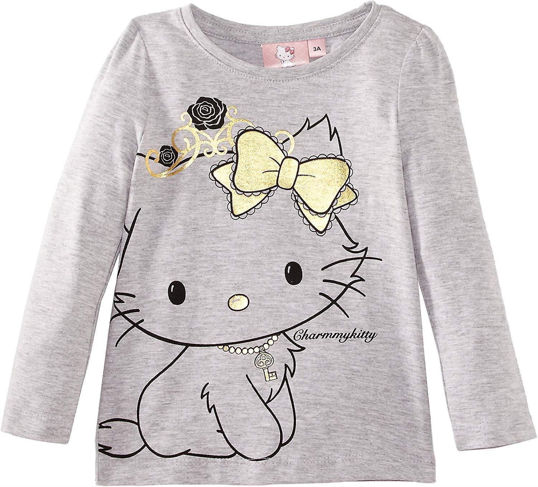 Sanrio Gold Hello Kitty - Charmmy Girls Long Sleeve TopT-Shirt