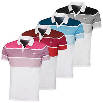 Wolsey Mens Three Colour Stripe Lightweight Golf Polo Shirt