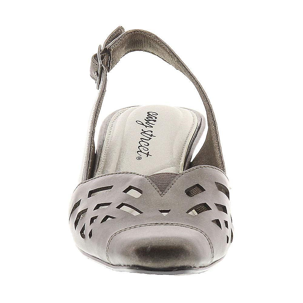 Easy Street Womens Adorable Leather Square Toe Special Occasion Slingback San...