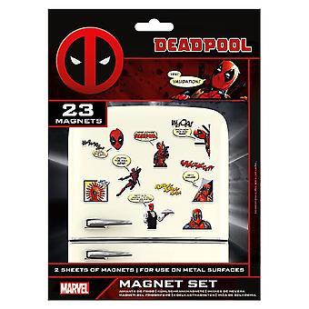 Ensemble d'aimant comique rétro de Marvel Deadpool