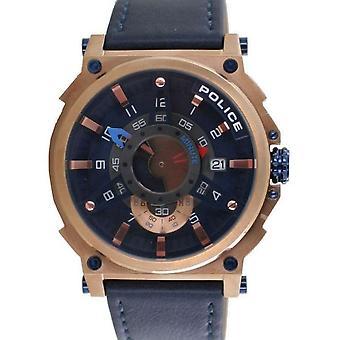 Police Herren Uhr Armbanduhr Leder Analog Compass PL15048JSR.03