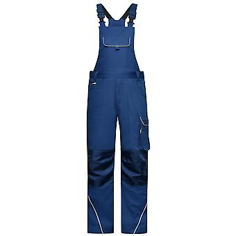 James and Nicholson Unisex Adults Workwear Pants with Bib