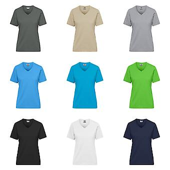 James og Nicholson Dame/Dame Økologisk Bomull Arbeidsklær T-skjorte