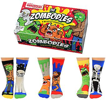 United Oddsocks Zombodies Socks Gift Set Para Boy's
