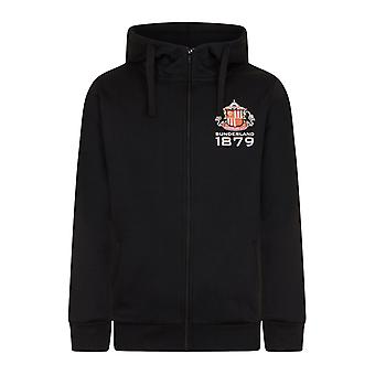 Sunderland AFC Official Football Gift Mens Fleece Zip Hoody