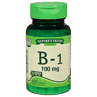 Nature's waarheid vitamine b-1, 100 mg, tabletten, 100 ea