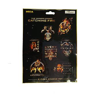 Hunger Games Catching Fire Sticker Set (Pack of 8)