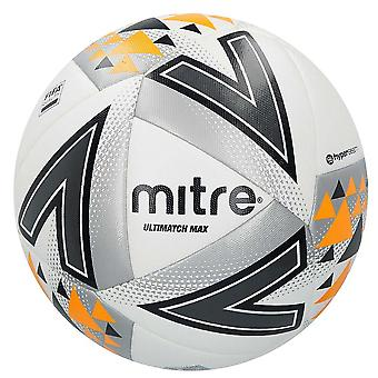 Mitre Ultimatch Max FIFA Qualtity Match Voetbal Voetbal Bal Wit / Zilver / Oranje