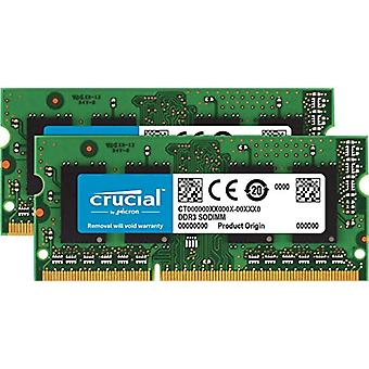 Crucial CT2KIT25664BF160BJ Kit 4 GB Memory Kit (2 GBx2) (DDR3L, 1600 MT/s, PC3L-12800, Single Rank, SODIMM, 204-Pin) 1.35V
