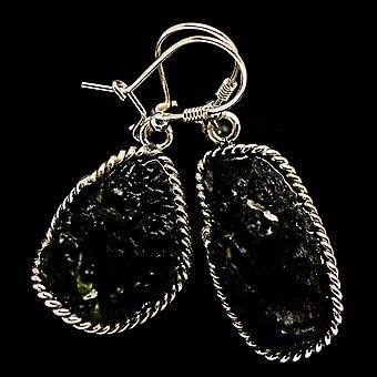 Tšekin Moldavite korvakorut 2 & (925 Sterling Silver) - Käsintehty Boho Vintage korut EARR400251