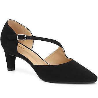 Jones 24-7 Suede Mid-Heel Court Shoe