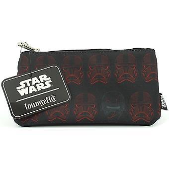 Loungefly Star Wars Red Sith Trooper zip peňaženka/make-up taška/puzdro na ceruzku