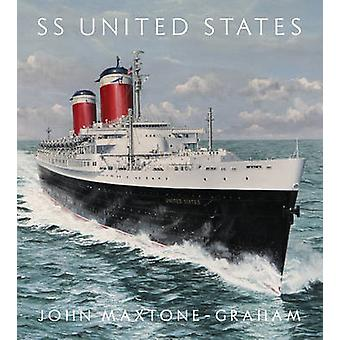 SS United States - Red - White - and Blue Riband - Forever by John Max