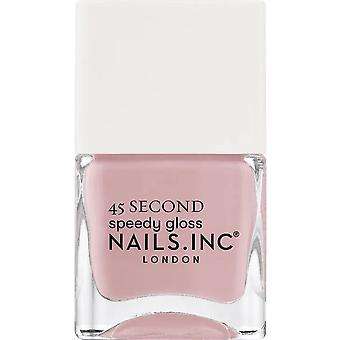 Nails inc 45 Second Speedy Gloss Nail Polish Collection - King Cross mantiene Cool 14ml