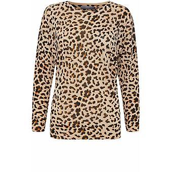 b.young Leopard Print Fine Knit Jumper