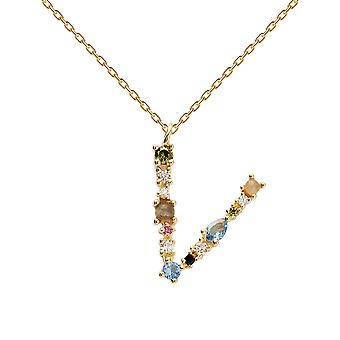 Pdpaola Women's Letter V Plated Necklace