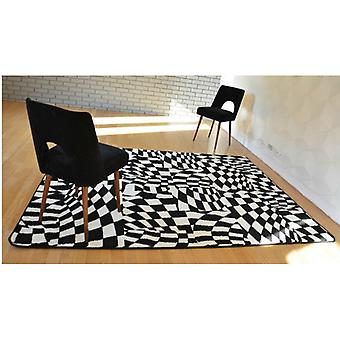 Rug SKETCH - F756 white/black - chequered