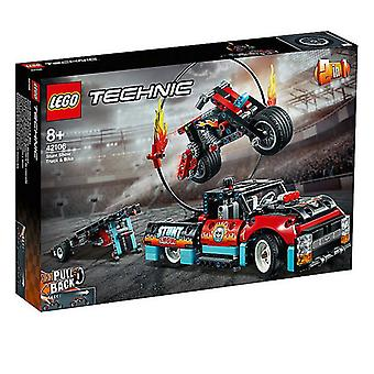 Playset Technic Stunt Show Truck And Bike Lego 42106