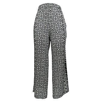 Attitudes by Renee Women's Petite Pants Como Jersey Printed Black A306432