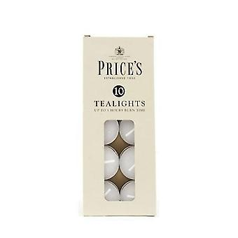 Prices Tealight Candles (Pack Of 10)