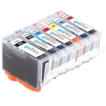 1 7 mustekasettia Korvaamaan Canon SGI-5 & CLI-8 Yhteensopiva/muu kuin OEM Go Inksistä (7 mustetta)