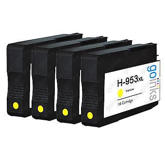 4 Go-inkten geel compatibele printerinktcartridges ter vervanging van HP 953Y (XL-capaciteit) Compatibel / niet-OEM voor HP Officejet-printers