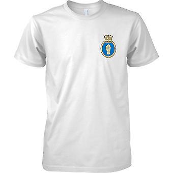HMS hålslag - nuvarande Royal Navy fartyg T-Shirt färg