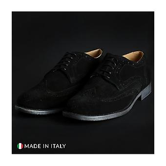 SB 3012 - Shoes - Lace-up shoes - 208-CAMOSCIO-B-NERO - Men - Schwartz - EU 40