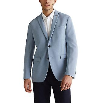 Esprit Men's Striped Texture Jersey Blazer Regular Fit Blue