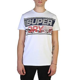 Man katoenen korte t-shirt ronde t-shirt top s23991