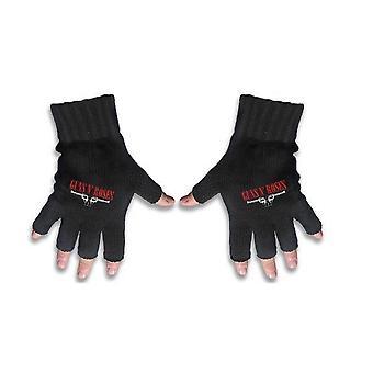 Guns N Roses handschoenen klassieke bandlogo en pistolen nieuwe officiële Fingerless zwart