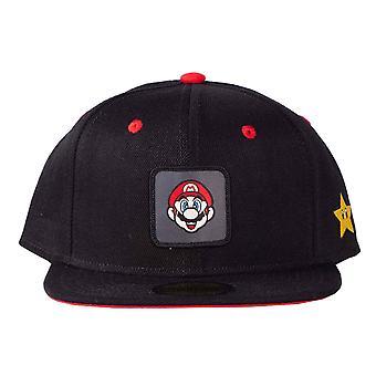 Super Mario Basebal Cap Badge logo new Official Black Nintendo Snapback