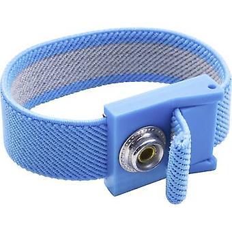 Quadrios ESD handledsband Blå 10 mm dubb och uttag