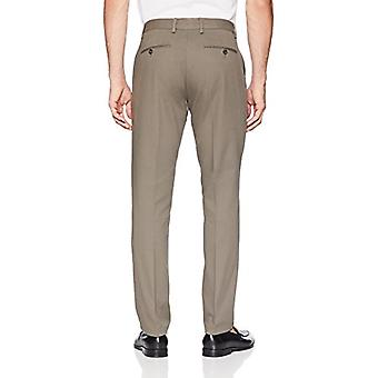 Essentials Men's Slim-Fit Rynke-Resistent Flat-Front Chino Pant, Tau ...