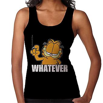 Garfield Whatever Nail Wall Scratch Women's Vest