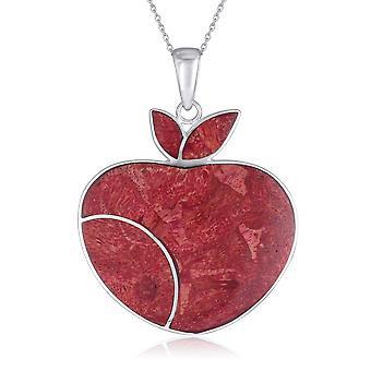 ADEN 925 Collier pendentif sterling argenté d'apple d'apple (id 2963)