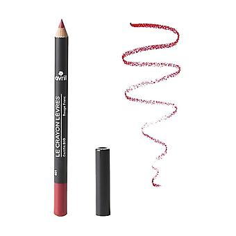 Lipstick pencil Rouge rouge - certified organic 1 unit (Red)