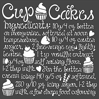 Stamperia Gruby szablon 18x18cm Cupcake (KSTDQ60)