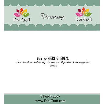 Dixi Craft Danish Text 4 Clear Stamp