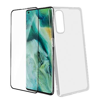 Back Cover for Oppo Find X2 Pro and 4Smarts 9H Tempered Glass - Transparent