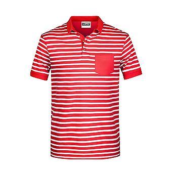 James Ja Nicholson Miesten Pooloraidallinen paita