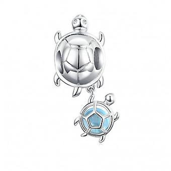 Sterling Silver Pendant Charm Turtles - 6686