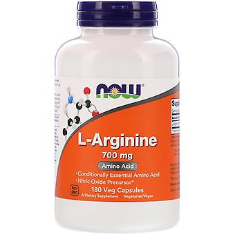 Maintenant Aliments, L-Arginine, 700 mg, 180 Capsules de légumes