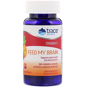 Trace Minerals Research, Children's, Feed My Brain, Fruit Punch Flavor, 60 Chewa