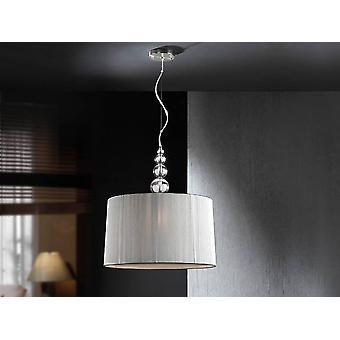 3 Light Cylindrique Plafond Pendentif Chrome, Gris, E27