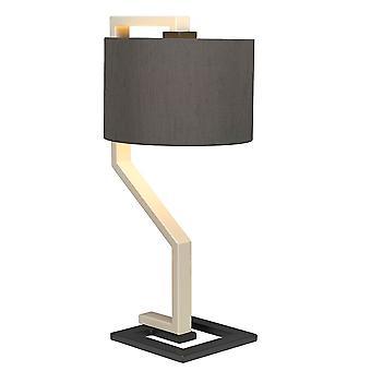 Tafellamp met cilindrische grijze tint