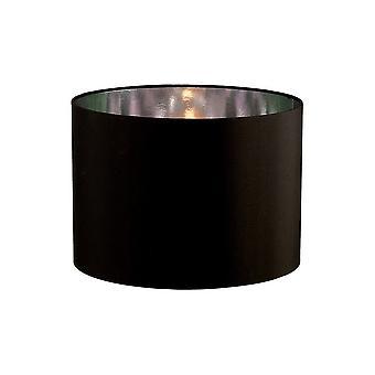 Round Shade Medium Black, Chrome 350mm x 250mm