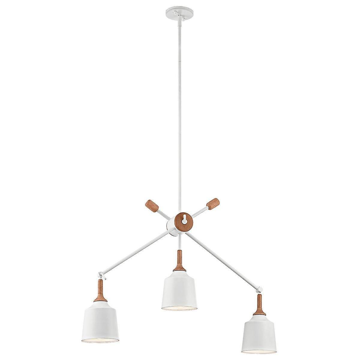 3 Light Ceiling Chandelier Pendant Bar Light White, E27