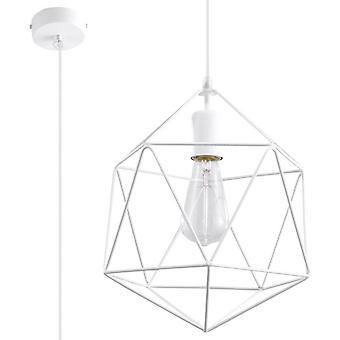 Sollux GASPARE - 1 licht gekooide plafondhanger wit, E27